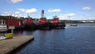 Tugboats in Castine Harbor, Maine