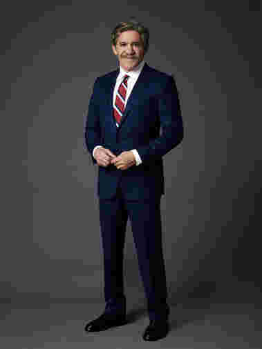 Geraldo Rivera strikes a pose as cast for Celebrity Apprentice Season 14, 2015.
