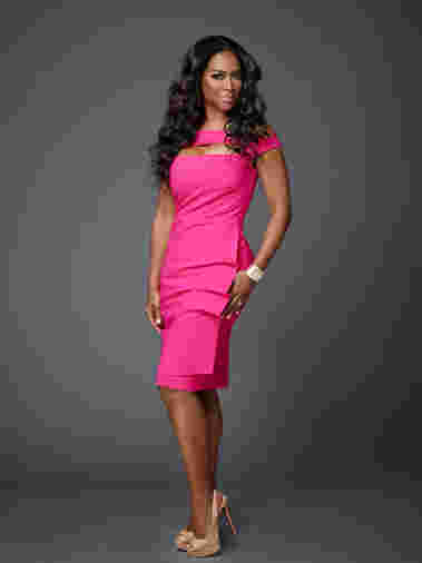 Kenya Moore strikes a pose as cast for Celebrity Apprentice Season 14, 2015.