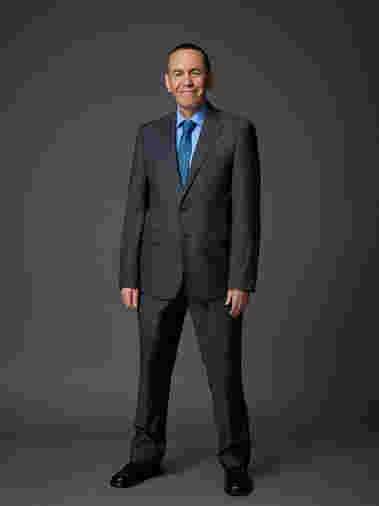 Gilbert Gottfried strikes a pose as cast for Celebrity Apprentice Season 14, 2015.