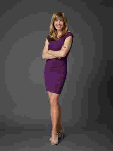 Leeza Gibbons strikes a pose as cast for Celebrity Apprentice season 14, 2015.