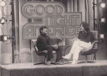 Geraldo Rivera interviews Bernard Carabello during an episode of Good Night America.  Bernard is a survivor of Willowbrook