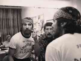Geraldo checks the beard before going undercover for an investigation into the easy availability of drugs