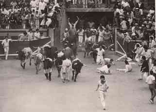Excitement as Geraldo and other brave souls run with the bulls