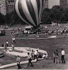 A Hot Air balloon on the ground