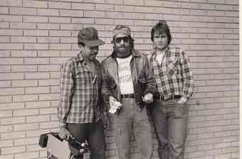Geraldo with the crew as he prepares to go undercover for an investigation into the easy availability of drugs