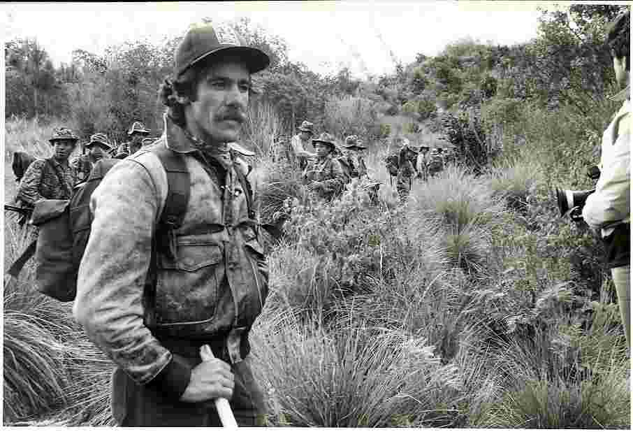 Geraldo walks through the weeds in the 1970s