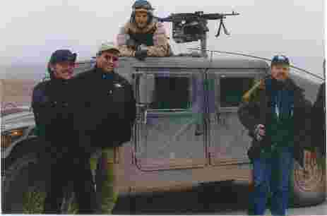 Geraldo and Field Correspondent Craig Rivera, his brother, at humvee with the crew