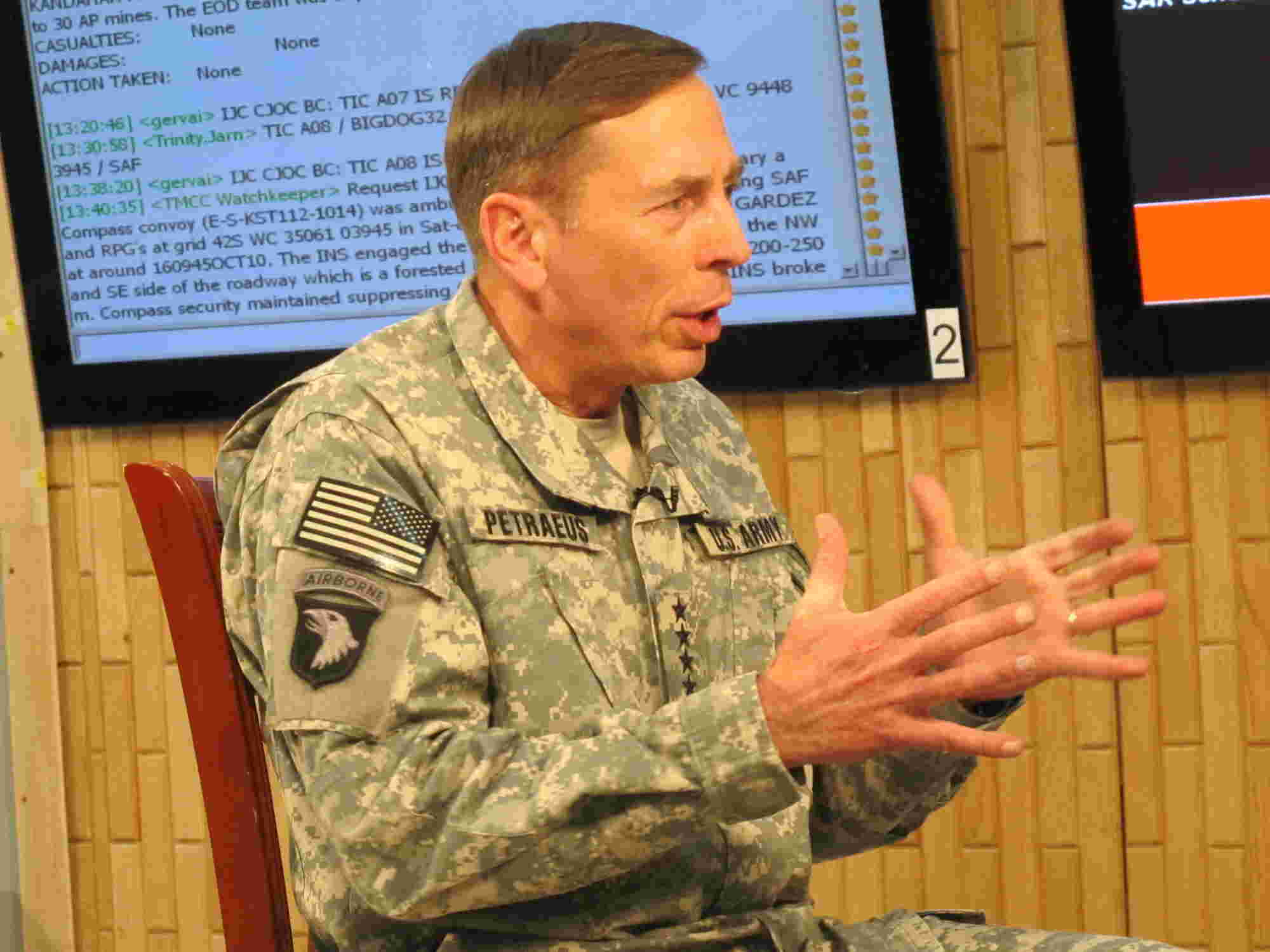 General David Petraeus explains, in answer to a question from Geraldo
