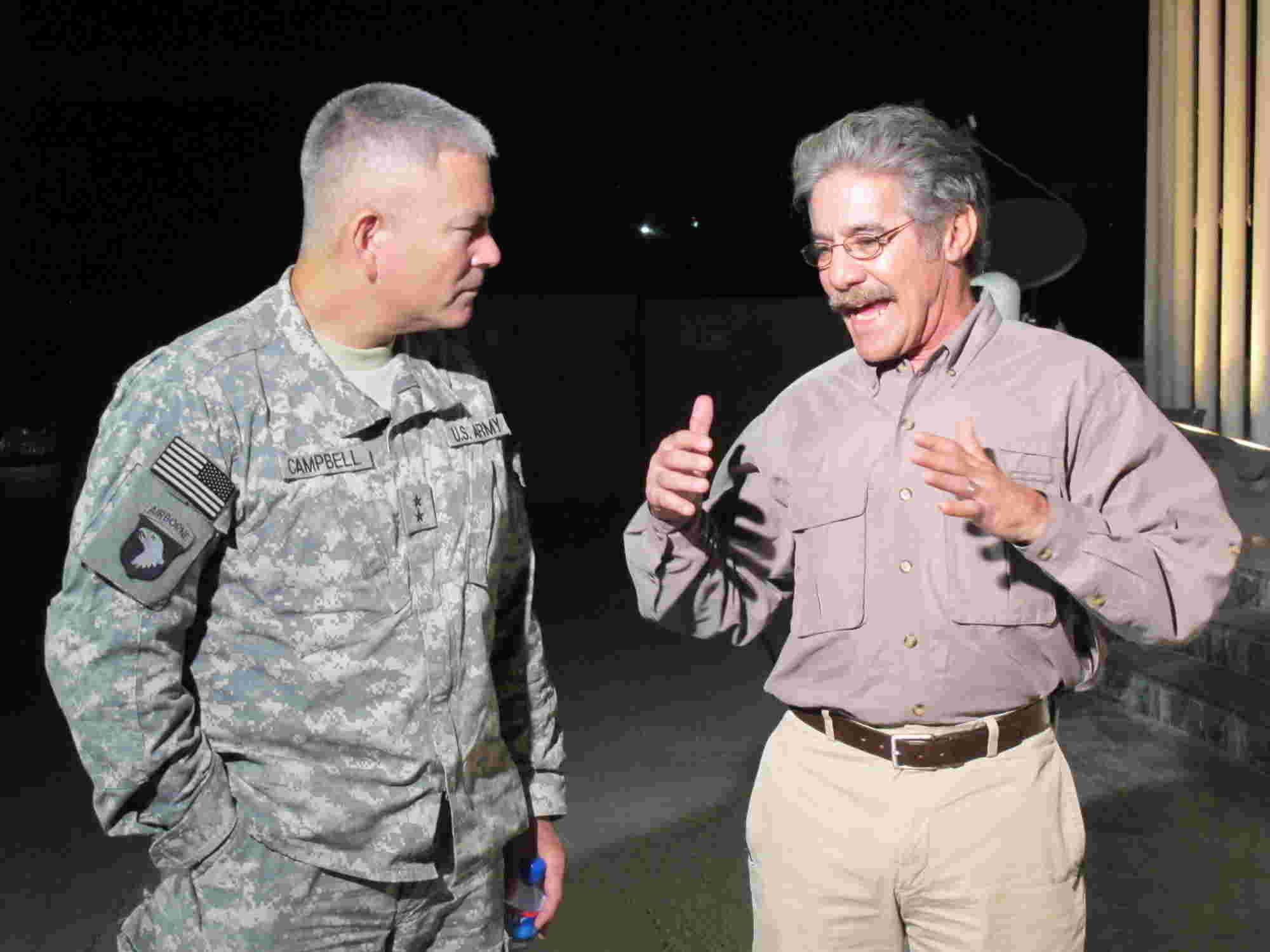 Geraldo discusses with Army Vice Chief Of Staff General John F Campbell