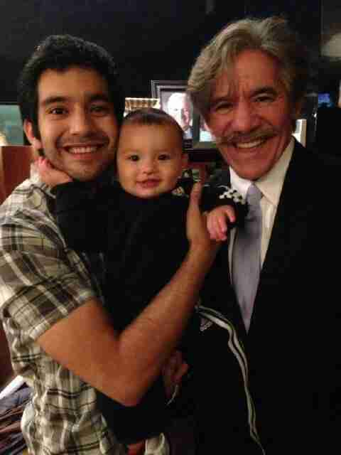 Geraldo with his younger son Cruz Rivera, and grandson Jace