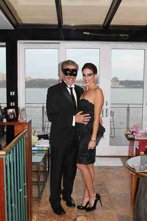Geraldo and wife Erica don costumers for Halloween