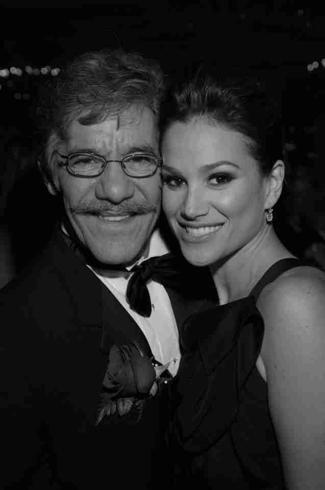 Geraldo and wife Erica in a black and white photograph