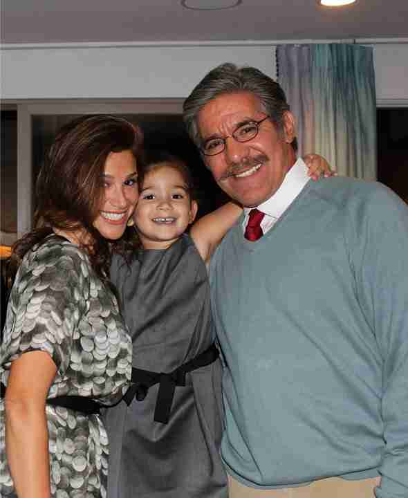 Geraldo and his wife Erica with daughter Sol between
