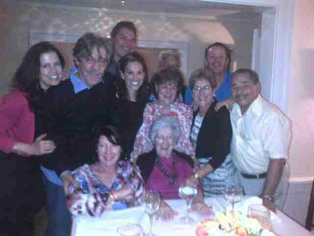 Geraldo family photo with sister-in-law Cordelia Rivera, brother Craig Rivera, wife Erica, sister Irene Rivera, sister Sharon Rivera, brother Wilfredo and mother Lillian.