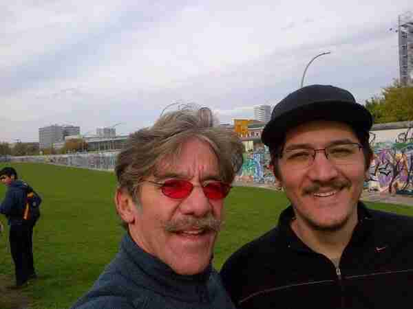 Geraldo with his oldest son Gabriel in Berlin, Germany