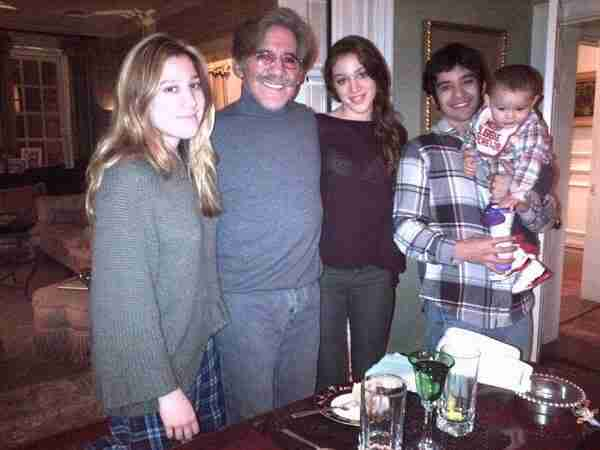 Geraldo with, from left to right, oldest daughter Isabella, daughter Simone, youngest son Cruz Rivera and grandson Jace
