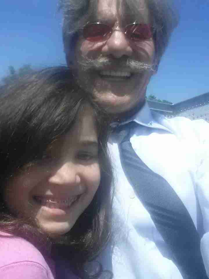 Geraldo shares a smile with his youngest daughter Sol