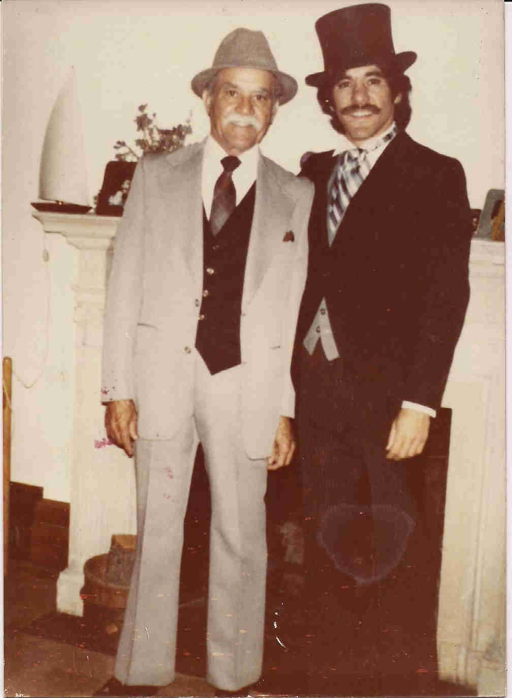 A vintage photo of Geraldo with his father, Cruz Allen Rivera