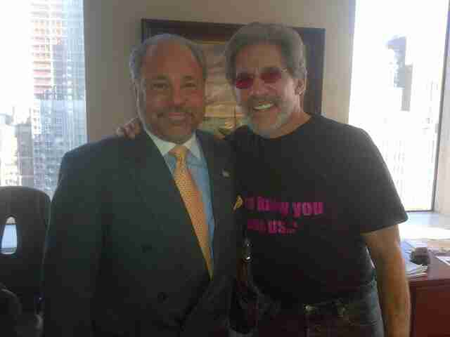 Geraldo with Manhattan notable Bo Dietl