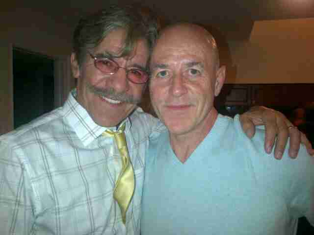Geraldo with Commissioner Bernie Kerik