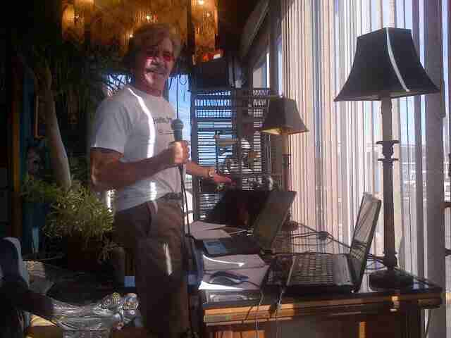 Geraldo broadcasts radio live from his home in Edgewater, NJ
