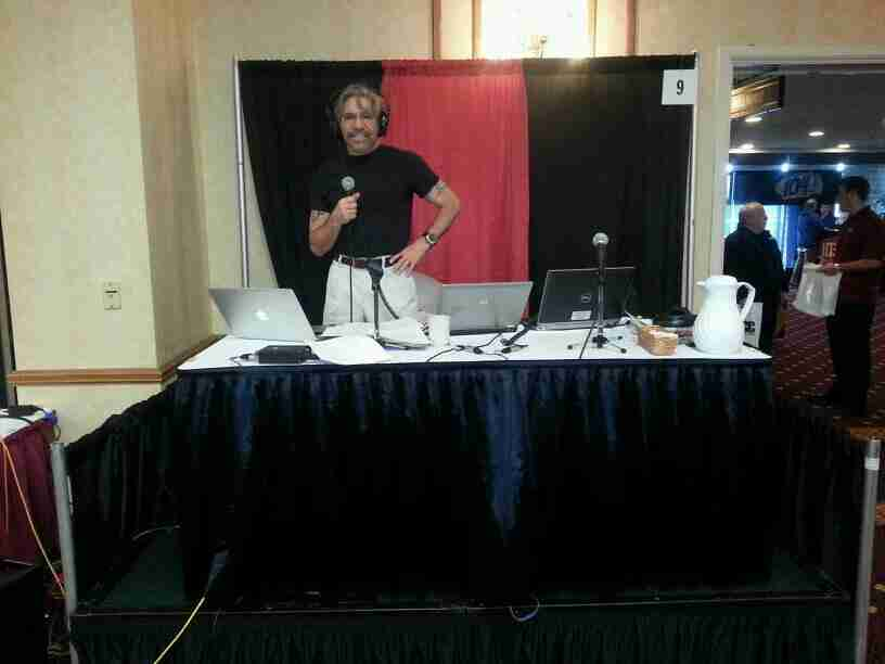 Geraldo during a job fair in partnership with Cumulus and iHeart radio