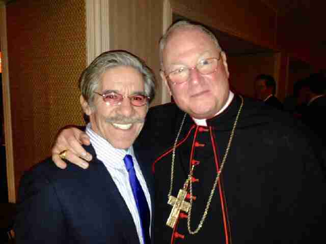 Geraldo with Archbishop of the Archdiocese of New York, Cardinal Timothy Dolan