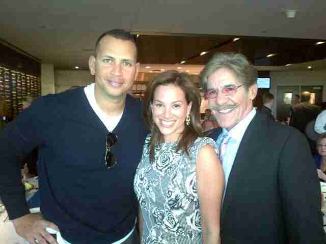 Geraldo and wife Erica share a picture with their friend.