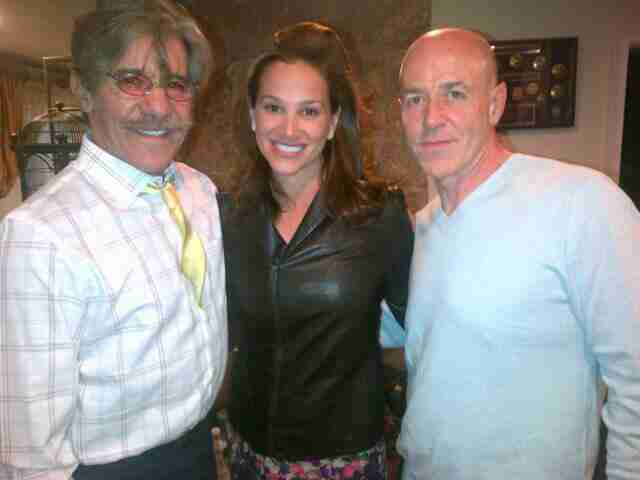 Geraldo and wife Erica share a picture with former NYC Police Commissioner Bernard Kerik