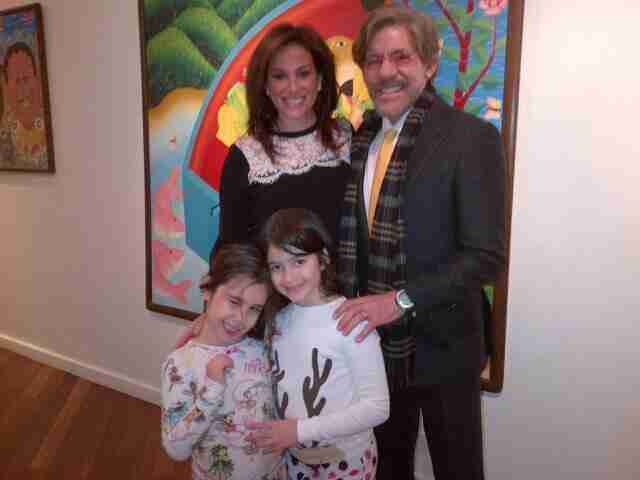 Geraldo, wife Erica, daughter Sol and her friend take a trip to the museum.