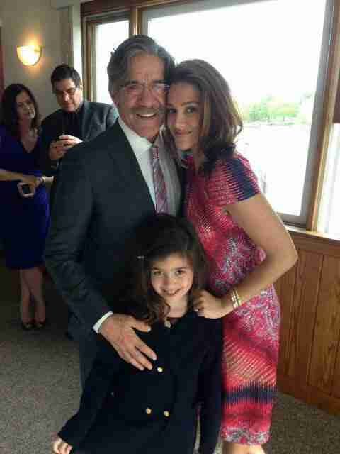 A fine picture of Geraldo, wife Erica, and their daughter Sol