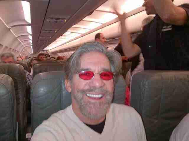 Geraldo on the plane.