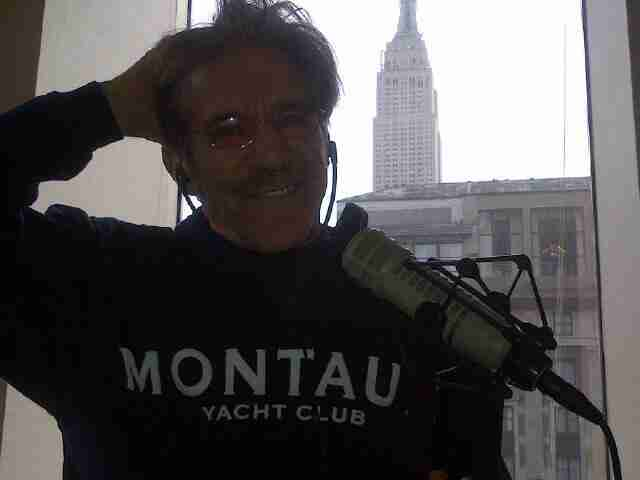 Geraldo in his 77 WABC radio studio high above Madison Square Garden, NYC