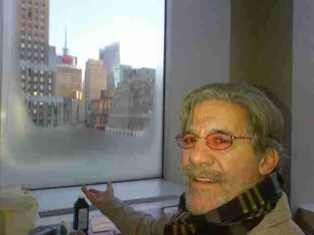 Geraldo shows the iced up 77 WABC studio windows during a brutal winter, circa 2014