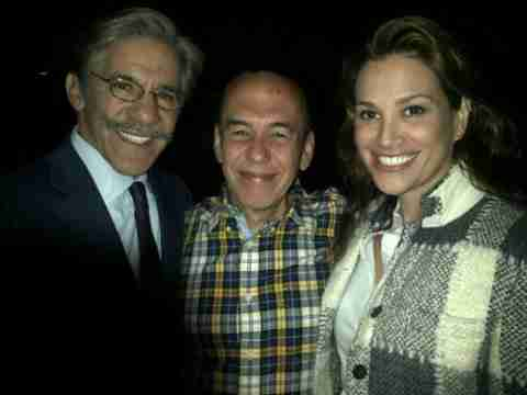 Geraldo and wife Erica share a photo with funny man Gilbert Gottfried.
