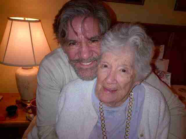 Geraldo with his mother, Lillian Rivera, circa 2014.