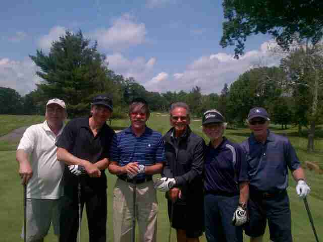 Geraldo with co-workers during the Geraldo Golf Classic in parternship with 77 WABC.