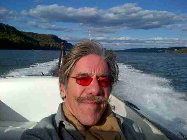 Geraldo cruises down the Hudson on a gorgeous day.