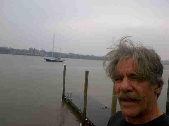 Geraldo with sailing vessel Voyager moored on the Hudson River.  Circa 2013.