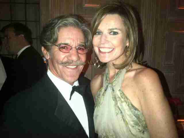 Geraldo poses with his friend.