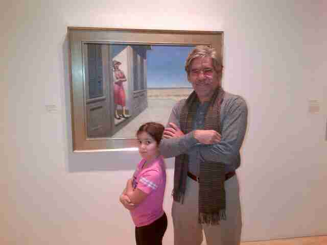 Geraldo poses with Sol during a trip to the museum.
