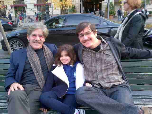 Geraldo with his oldest son Gabriel and youngest daughter Sol.