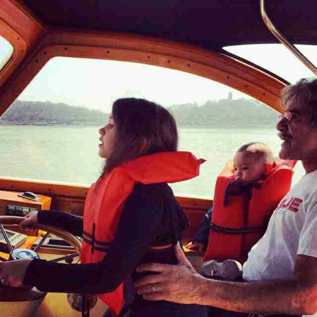 Sol takes the helm with her daddy Geraldo and her nephew Jace.