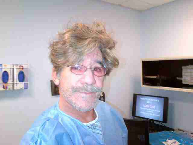 Geraldo in hospital recovering from corrective foot surgery.