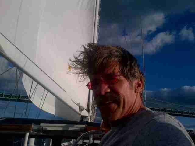 Geraldo on board sailing vessel Voyager.