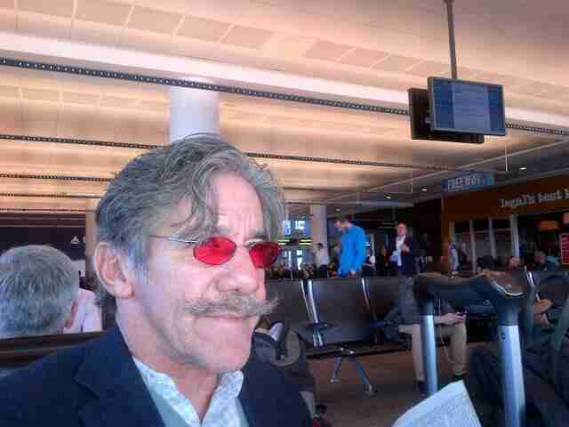 Geraldo waiting at the airport.