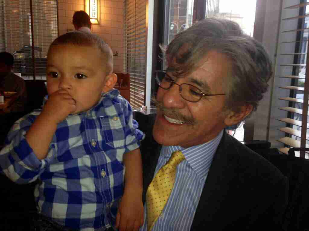 Geraldo with his grandson Jace.