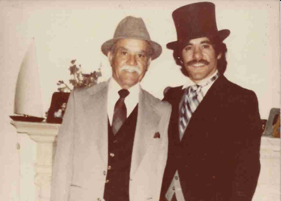 Geraldo with his father, Cruz Allen Rivera.