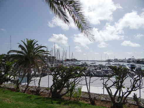 A view of Bermuda harbor from the Royal Hamilton Amateur Dinghy Club, after Voyager completed the Marion to Bermuda sailing race 2013.